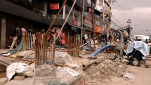 नयाँ बानेश्वर चोकमा आकाशेपुलको निर्माण अघि बढ्यो