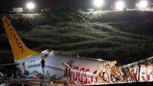 टर्कीमा बिमान दुर्घटना : तीन को मृत्यु, १ सय ७० घाइते