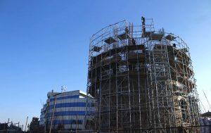 धरहरा पुनः निर्माण ३३ प्रतिशत सम्पन्न