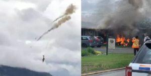 सैनिक विमान दुर्घटनाग्रस्त, पाइलटको मृत्यु