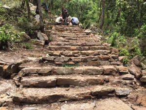 पर्यटकीय गन्तव्य 'घुम्टे' जोड्ने पदमार्ग निर्माण कार्य सुरु