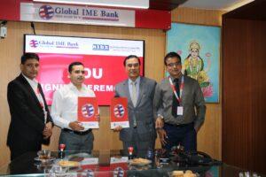 लक्षित समुदायलाई सहुयितपुर्ण कर्जा प्रदानका लागि ग्लोबल आइएमई बैंक र निड्सबीच सम्झौता